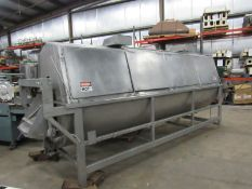 Stainless Steel Vegetable Blancher, 4' Dia. X 11' L spiral auger, in stainless steel cabinet