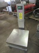 """NCI Mdl. 3256 Digital Scale, 20"""" X 20"""" stainless steel platform, lights up , no weight"""