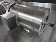 Lot Baldor Used Stainless Steel Motors, (1) 1.5 h.p., 230/460 volts, 1760 RPM, frame 56C, (1) 1.5