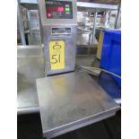 "Doran Mdl. 4100 Digital Scale, 12"" X 12"" stainless steel platform, 30 Lb. capacity, pounds, kg, oz"