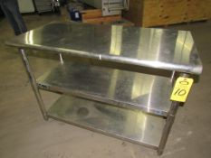 """Stainless Steel Table, 24"""" W X 4' L X 34"""" T, 2-shelves"""