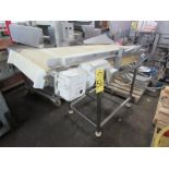 """Incline Conveyor, 24"""" W X 66"""" L plastic belt, 43"""" infeed, 50"""" discharge, 1/2 h.p., stainless steel"""