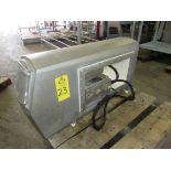 """Mettler Toledo/Safeline Metal Detector Aperture, 9 3/4"""" H X 19 3/4"""" W, 22"""" H X 42"""" W overall"""