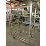 """Stainless Steel Smoke Truck, 42 1/2"""" W X 29"""" L X 64"""" T, (6) racks with (9) spaces each for sticks, 8"""