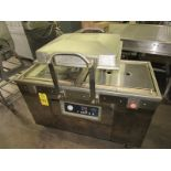 """Dingye Mdl. DZQ500/2SB Double Chamber Vacuum Packaging Machine, 4"""" tall lid, 17 1/2"""" wide seal bars,"""