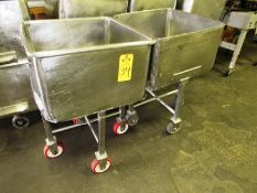"""Stainless Steel Buggies, 25"""" W X 25"""" L X 16"""" D, 39"""" tall (Located in Plano, IL - Loading Fee: $10"""