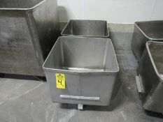 Stainless Steel Euro Style Dump Buggies, 400 Lb. capacity (Located in Plano, IL - Loading Fee: $10