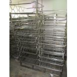 """Stainless Steel Nestaway Baskets, 29"""" W X 29"""" L X 8"""" D (Located in Plano, IL - Loading Fee: $100"""