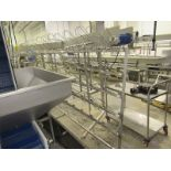 """Stainless Steel Boot Rack, 20"""" W X 114"""" L X 70"""" T (Located in Plano, IL - Loading Fee: $25 Removal"""
