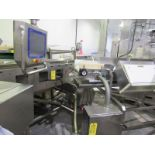 """Marel Mdl. P3000/226 Sorting Conveyor, 12"""" W X 84"""" L plastic belt, 2 sorting stations each side with"""