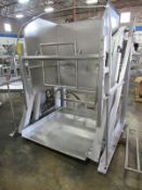 """Afeco Mdl. 610 Stainless Steel Vat Dumper, 46"""" W X 50"""" L carriage, stainless steel lift & pivot"""