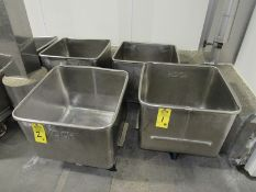 Koch Stainless Steel Dump Buggies, 400 Lb. capacity (Located in Plano, IL- Loading Fee: $10