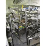 """Portable Stainless Steel Conveyor, 12"""" W X 86"""" L incline (missing belt) 36"""" W X 90"""" T overall,"""