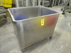 """Stainless Steel Vat 36"""" W X 48"""" L X 36"""" D (Located in Plano, IL - Loading Fee: $10 Removal dates are"""