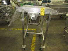 """Portable Stainless Steel Conveyor, 24"""" W X 5' L ladder chain belt, 230/460 volts motor (Located in"""