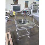 "Stainless Steel Digital Scale on platform, 24"" W X 24"" L stainless steel top, Doran Mdl. 8000XL"