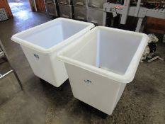 """Uline Portable Plastic Totes, 24"""" W X 34"""" L X 26"""" D (Located in Plano, IL - Loading Fee: $10 Removal"""