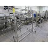 "Stainless Steel Garment Rack, 24"" W X 124"" L X 69"" T (Located inTrailer in Sandwich, IL- Loading"