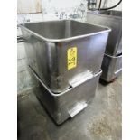 Stainless Steel Dump Buggies, 400 Lb. capacity (Located in Plano, IL - Loading Fee: $10 Removal