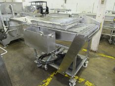 """Heat & Control Mdl. 3A-3-24 Portable Stainless Steel Batter Applicator, 24"""" W X 90"""" L, with hold"""