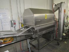 """Portable Stainless Steel Drum Breader, 4' L infeed conveyor, 2' Dia. X 4' L drum, 64"""" T auger, 4'"""