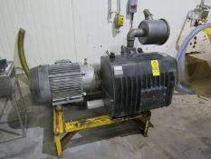 Busch Mdl. RA630 Vacuum Pump on stand (rebuilt by TMS 8/14) 25 h.p., 230/460 volt motor, Ser. #