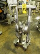 """Murzan Mdl. SER3X3IF3 Portable Stainless Steel Diaphragm Pump, pneumatic operation, 3"""" inlet/outlet,"""