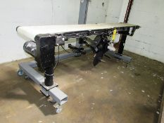 ID Technology Mdl. ST1000 Portable Conveyor with bottom label applicator, 120 volts, Ser. #