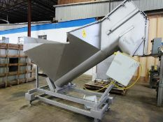 """Stainless Steel Screw Loader, 16"""" Dia. X 8' L stainless steel screw, 5' W X 5' L load hopper, 15 h."""