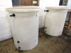 """Poly Tanks with lid, 36"""" Dia. X 48"""" D with float ball, 1"""" inlet/outlet"""