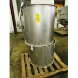 """Lot of (2) Coneco Real Air Mover, 30"""" Dia. Stainless Steel Fans, (1) 24"""" long, (1) 30"""" long"""