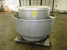 """Greenheck Mdl. Cube-420-75-X Stainless Steel Rooftop Exhaust, 64"""" Dia., 52 1/2"""" base, Ser. #"""