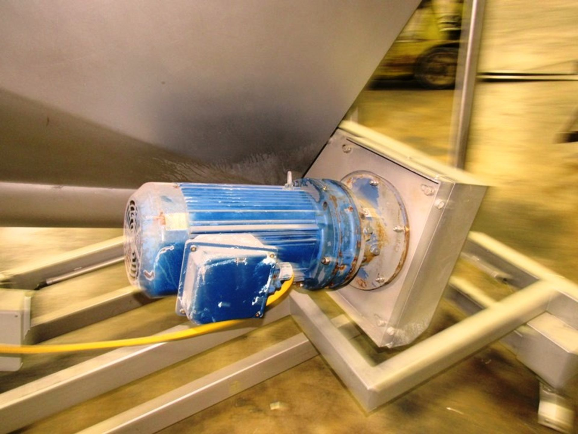 """Stainless Steel Screw Loader, 16"""" Dia. X 8' L stainless steel screw, 5' W X 5' L load hopper, 15 h. - Image 7 of 7"""