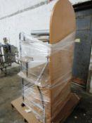 """Lot (1) Table 30"""" W X 6' T, (1) Portable Shelving Unit & (1) Bookshelf 3' W X 6' T, 3 shelves, 2"""