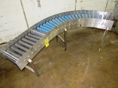 "Stainless Steel Frame Roller Conveyor, 12"" W X 7' L"