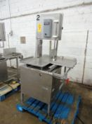 Hollymatic Mdl. HY16-5000 Stainless Steel Bandsaw, stainless steel table and head, 460 volts