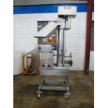 """CFS Portable Stainless Steel Screw Loader, 8"""" Dia. X 5' L screw, 45"""" infeed, 6' discharge, control"""