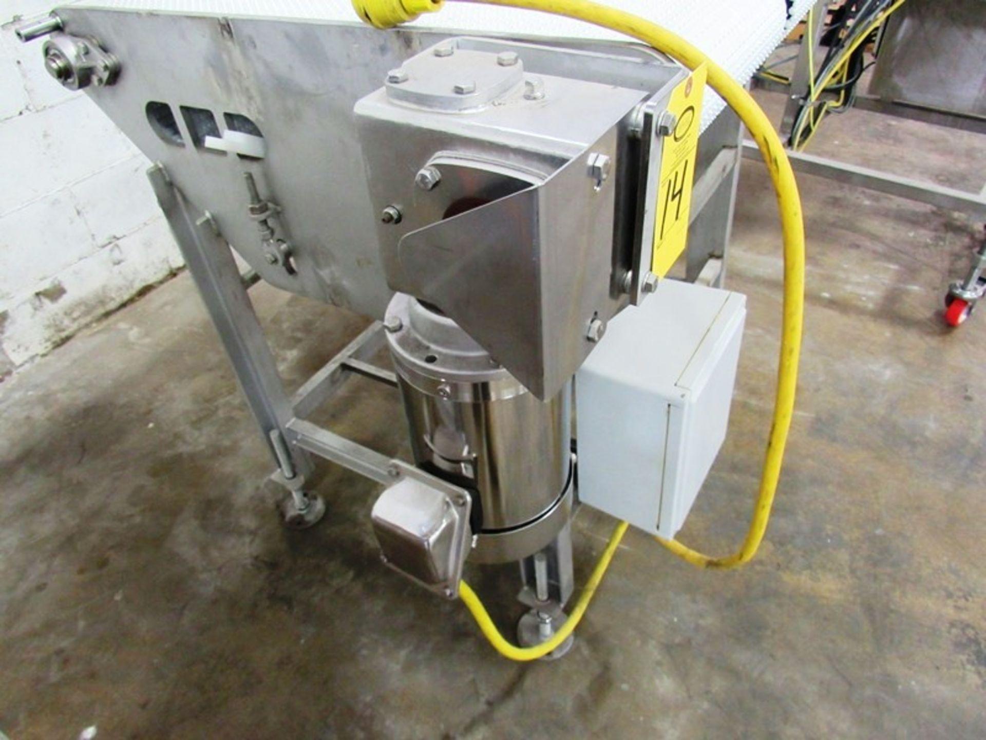 "ICF Stainless Steel Double Belt Conveyor, each belt 12"" W X 36"" L, 1 h.p., stainless steel motor, - Image 3 of 3"