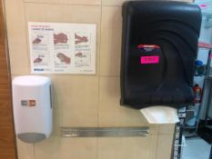 DESCRIPTION: PAPER TOWEL AND SOAP DISPENSER LOCATION: KITCHEN THIS LOT IS: ONE MONEY QTY X 1