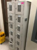 "DESCRIPTION: (2) SIX GROUP METAL LOCKER TOW SIZE: 72"" T LOCATION: KITCHEN THIS LOT IS: SOLD BY THE P"