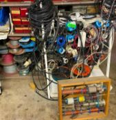 DESCRIPTION LARGE ASSORTMENT OF ELECTRICAL WIRING AS SHOWN LOCATION BASEMENT THIS LOT IS ONE MONEY Q