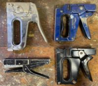 DESCRIPTION ASSORTED HEAVY DUTY STAPLERS AS SHOWN LOCATION BASEMENT THIS LOT IS ONE MONEY QUANTITY 1