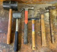 DESCRIPTION ASSORTED HAMMERS AS SHOWN LOCATION BASEMENT THIS LOT IS ONE MONEY QUANTITY 1