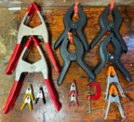DESCRIPTION ASSORTED SPRING CLAMPS LOCATION BASEMENT THIS LOT IS ONE MONEY QUANTITY 1