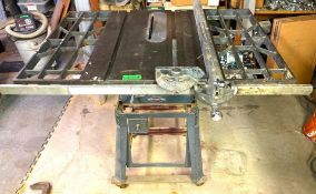 "DESCRIPTION CRAFTSMAN 10"" TABLE SAW ON CASTERS BRAND/MODEL CRAFTSMAN LOCATION BASEMENT QUANTITY 1"