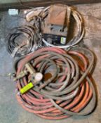 DESCRIPTION ASSORTED HOSES AND ELECTRICAL SUPPLIES AS SHOWN LOCATION D THIS LOT IS ONE MONEY QUANTIT