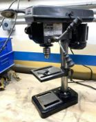 """DESCRIPTION 8"""" 5-SPEED BENCH DRILL PRESS BRAND/MODEL CENTRAL MACHINERY ADDITIONAL INFORMATION 120VAC"""