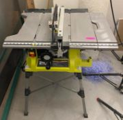 DESCRIPTION RYOBI 15 AMP 10-IN TABLE SAW WITH STAND BRAND/MODEL RYOBI RTS21G ADDITIONAL INFORMATION