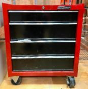 DESCRIPTION 4-DRAWER TOOL CHEST ON CASTERS (CONTENTS INCLUDED, SEE PHOTOS) BRAND/MODEL TOOL SHOP SIZ