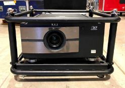 DESCRIPTION 3-DLP EDGE-BLENDING PROJECTOR WITH ROAD CASE WITH CASTERS BRAND/MODEL BARCO RLM-W8 ADDIT